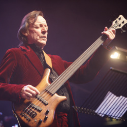British musician Jack Bruce performs at the Zildjian Drummers Achievement Awards at the Shepherd's Bush Empire in London on Dec. 7, 2008.