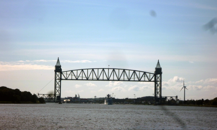 A view of one of the three bridges that cross the Cape Cod canal. Sally Gardiner-Smith photo
