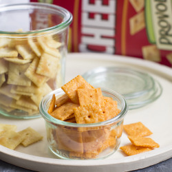 Provolone and original flavor Cheez-It crackers. Devotees of the crispy, salty snack are thinking outside the box when using it as an ingredient.