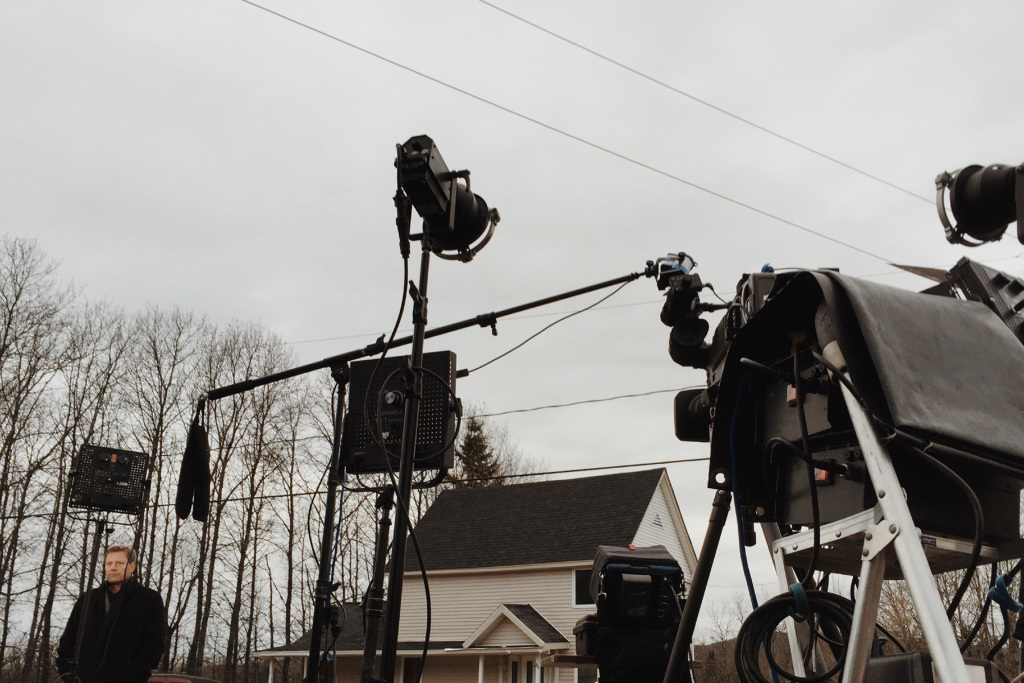 CBS correspondent Don Dahler does a take for CBS This Morning outside the home of Ted Wilbur, where Kaci Hickox is waiting to see whether the state and governor LePage will file a court order for a mandatory quarantine in Fort Kent on Friday morning.