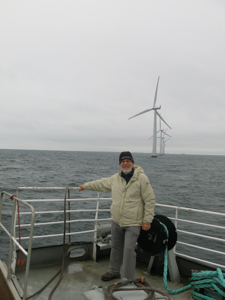 Peaks Islander Sam Saltonstall and other Mainers visiting Samsø tagged along on a maintenance trip to offshore wind turbines.