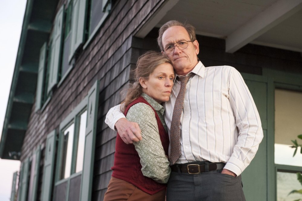 Frances McDormand as Olive Kitteridge and Richard Jenkins as her husband, Henry.