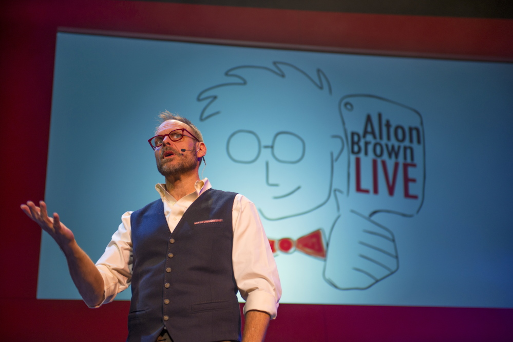 "Alton Brown: ""The best thing about Maine is I can eat my body weight in lobster, and I intend to as soon as I get there."" Courtesy photo"