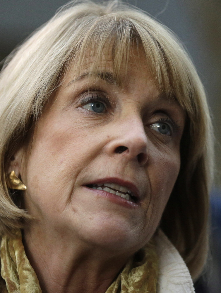 Massachusetts Democratic gubernatorial candidate Martha Coakley faces reporters following a campaign event, Monday, Nov. 3, 2014, in Lynn, Mass. (AP Photo/Steven Senne)