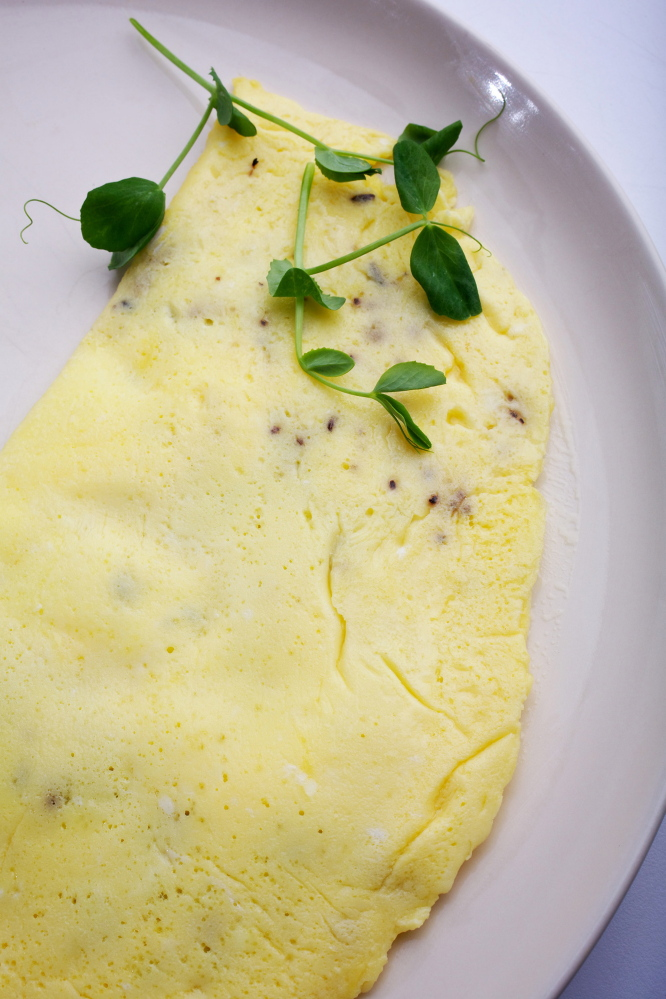 Sour Cream and Toasted Caraway Omelet