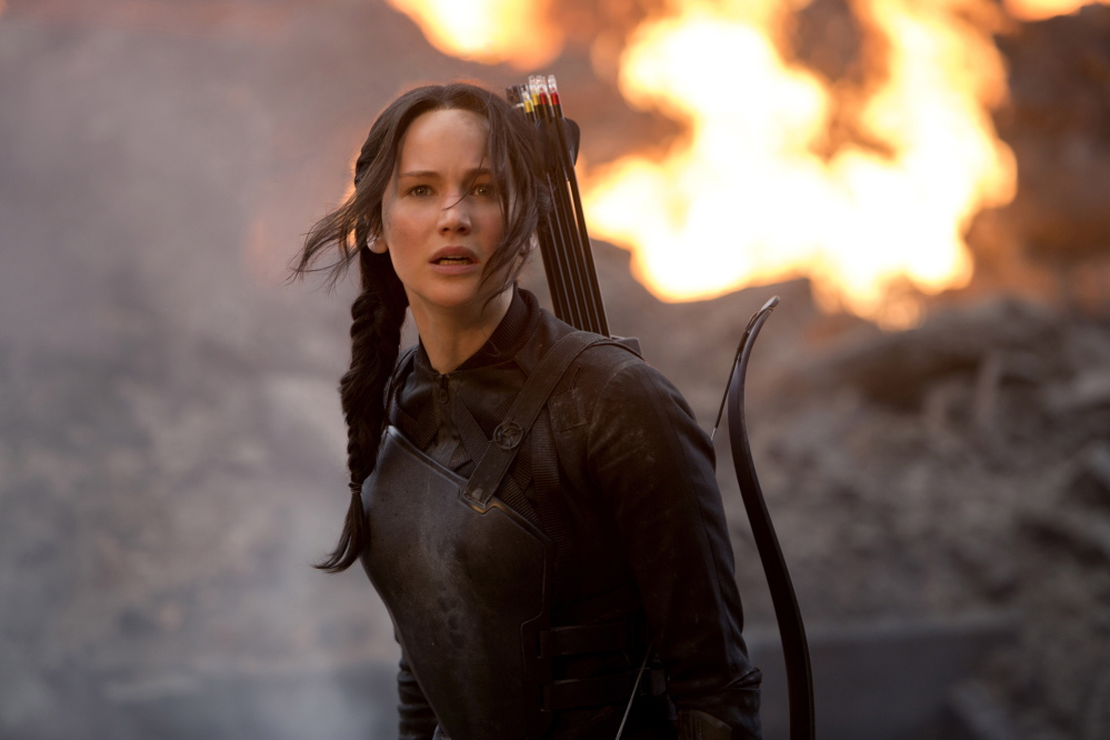 "Jennifer Lawrence in ""The Hunger Games: Mockingjay Part 1,"" opening Nov. 21."
