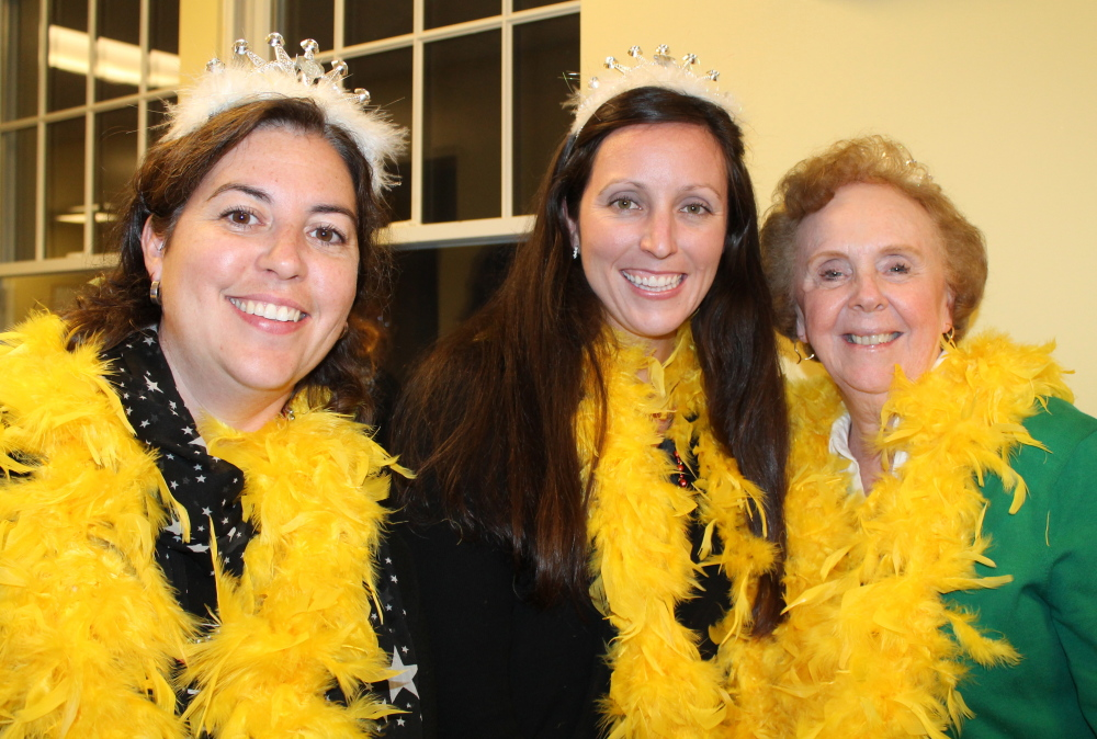 Scarborough's school board was represented by the Queen Bees: Kelly Murphy, left, Julie Bassett and Donna Beeley. They joined more than 20 teams in the 7th annual Trivia Bee.