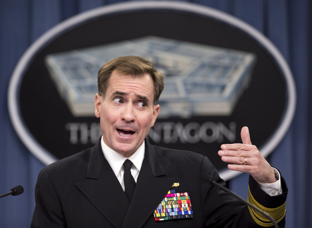 Rear Adm. John Kirby, Pentagon press secretary, says U.S. troops will expand their military advisory mission in Iraq.