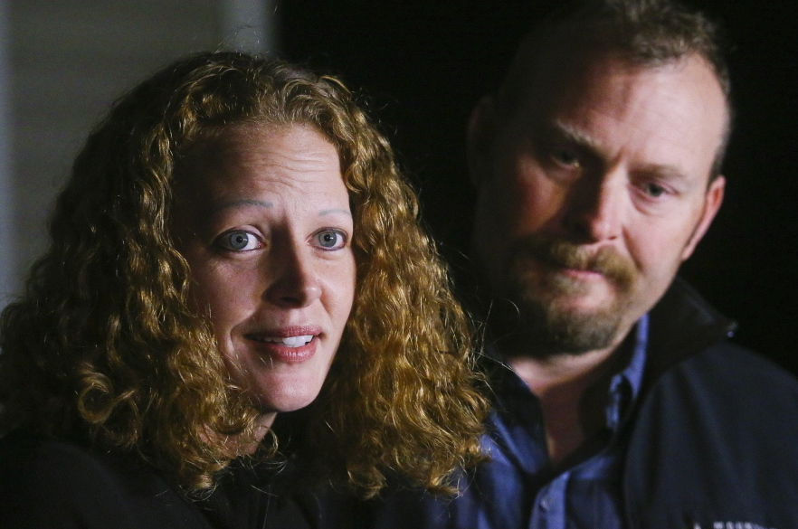 "Kaci Hickox and her boyfriend, Ted Wilbur, received both ""great support"" and some hateful treatment in Fort Kent when Hickox defied a quarantine, she says."