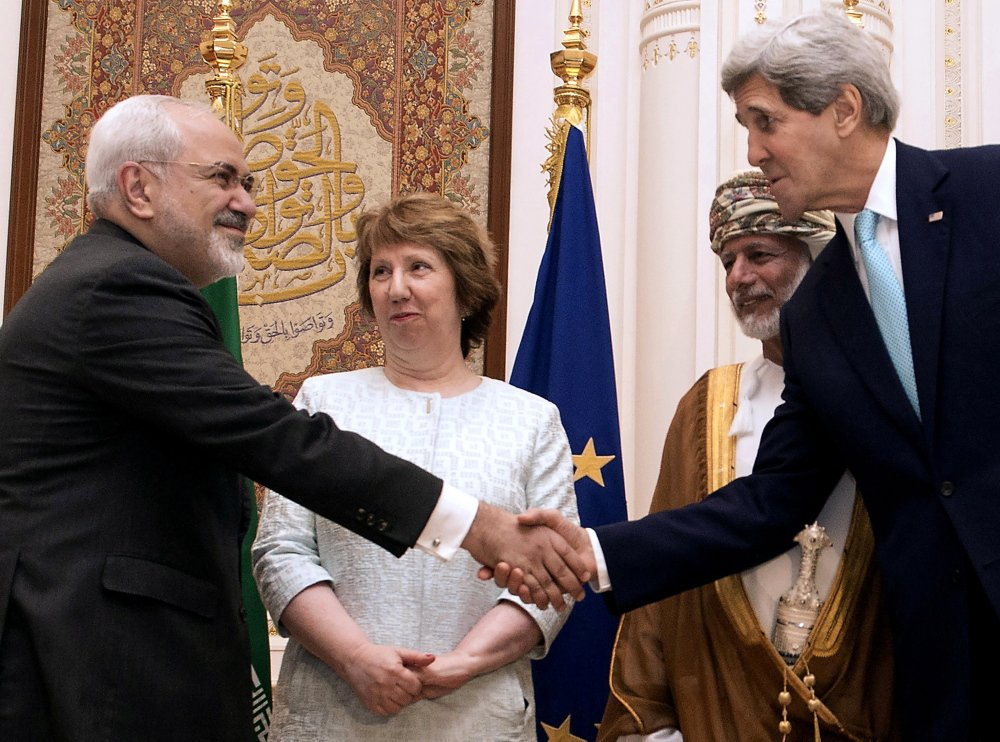 Secretary of State John Kerry and Iranian Foreign Minister Mohammad Javad Zarif meet Sunday with Omani Foreign Minister Yussef bin Alawi bin Abdullah and European Union High Representative Catherine Ashton.