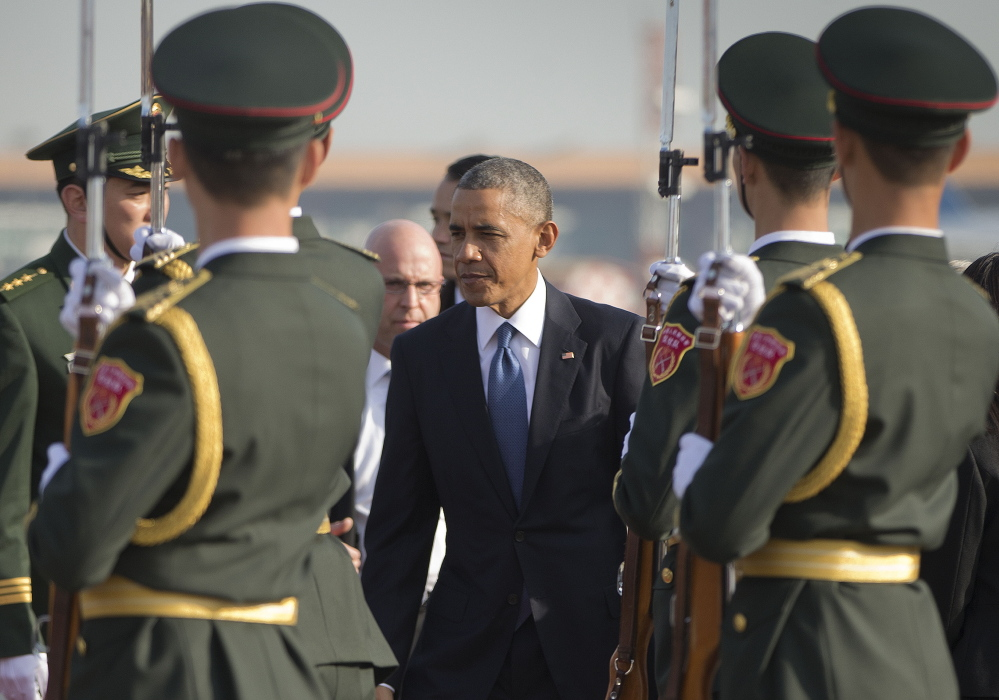 President Obama arrives Monday in Beijing to attend an Asia-Pacific Economic Cooperation summit.