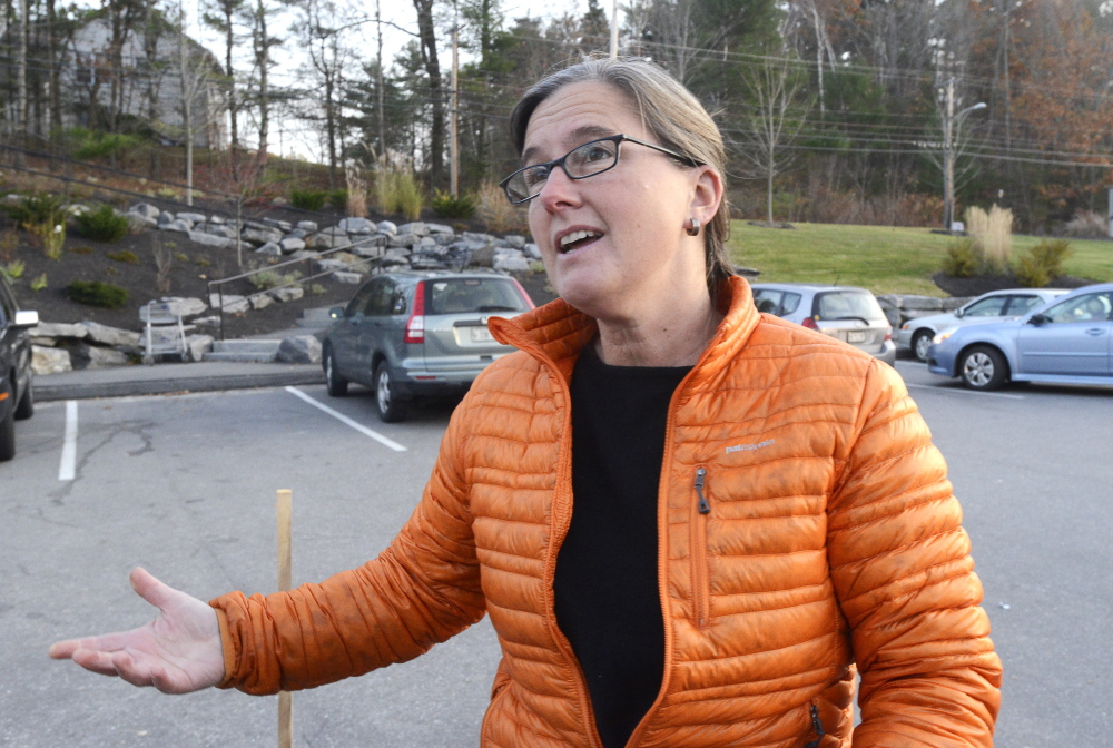 """Freeport resident Naomi Beal gives her view Monday on Kaci Hickox and her boyfriend, Ted Wilbur. """"I'm just astounded at the commentary of people calling her selfish,"""" Beal said. John Patriquin/Staff Photographer"""