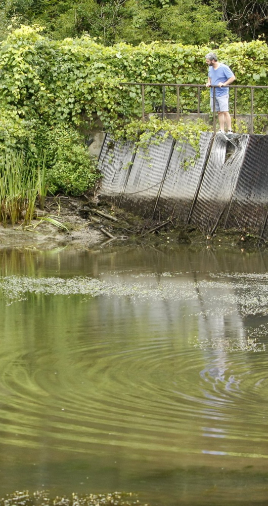 A 2011 drawdown of water at the Bridge Street Dam gave residents a good look at the shoreline.