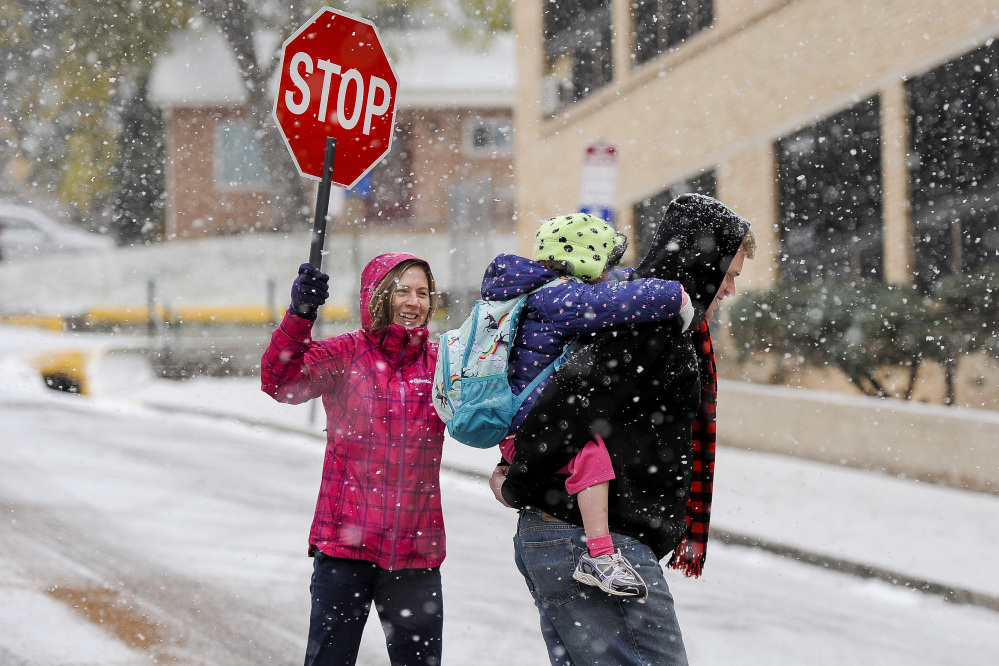 There's no stopping the winter storm that dropped heavy snow on Colorado's Pikes Peak on Tuesday and is expected to keep the region in deep-freeze all week.