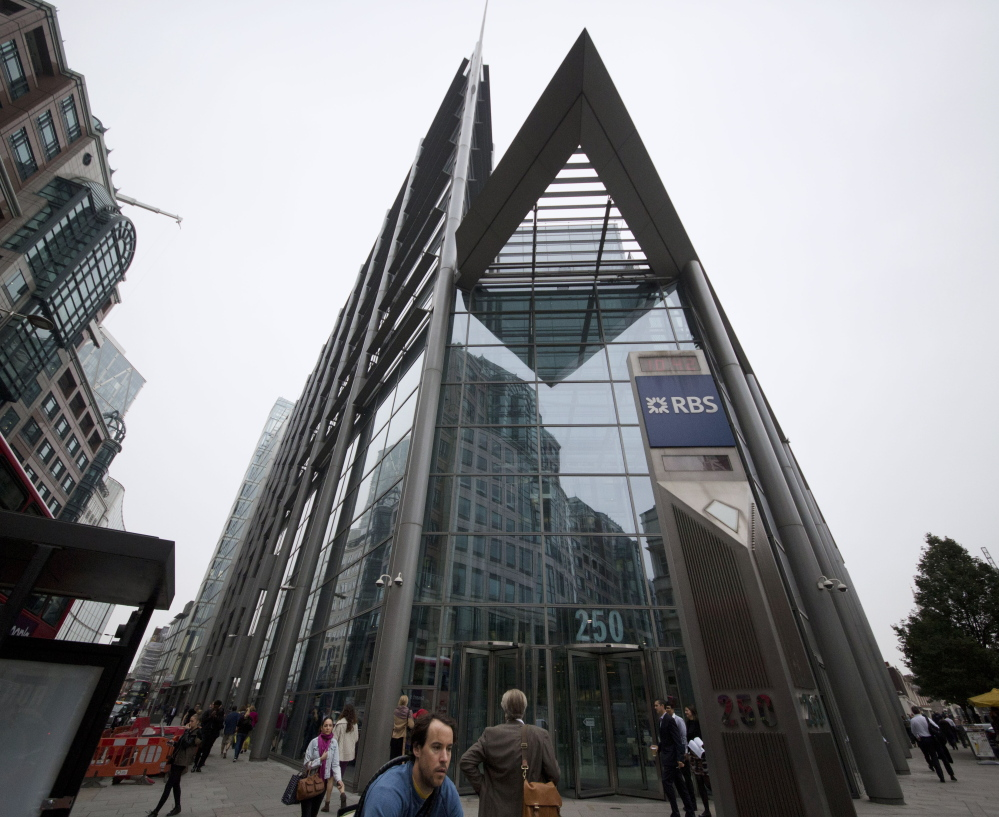 The offices of Royal Bank of Scotland in the City of London.