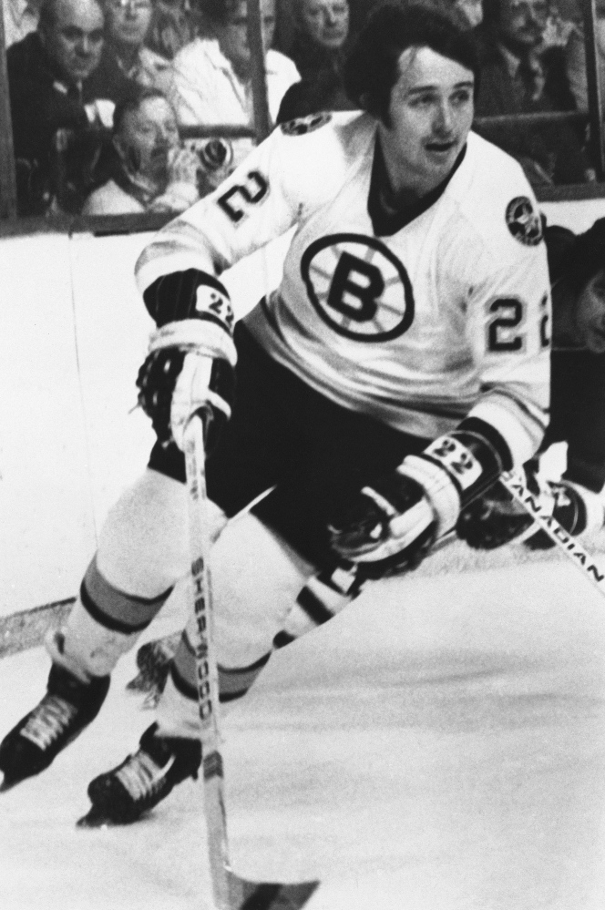 The Boston Bruins' Brad Park in action in November 1976.