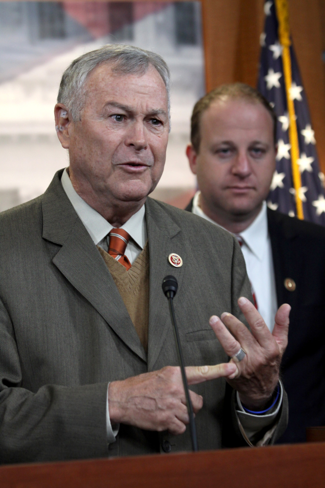 Bipartisan support for reform comes from Rep. Dana Rohrabacher, R-Calif., left, and Rep. Jared Polis, D-Colo.