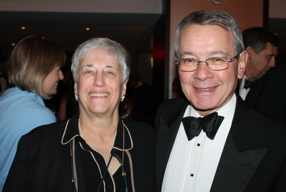 Robin Rubinstein and her husband Larry, a Portland Museum of Art trustee, at The Westin Portland Harborview before the dinner and live auction.