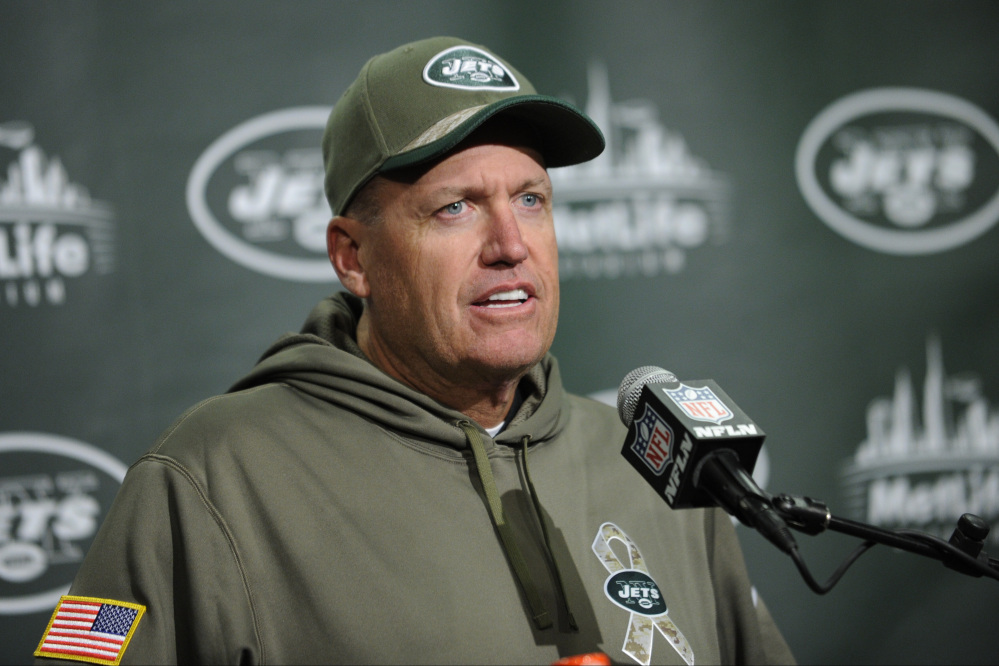 New York Jets head coach Rex Ryan was fined $100,000 by the NFL for using profanity that was picked up on video Sunday after the Jets' game against the Steelers.
