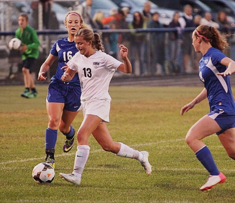 "Kate Marshall plays soccer for York High School. Diagnosed with cystic fibrosis at 8 months, she's been ""riding this wave of science,"" her mom says."