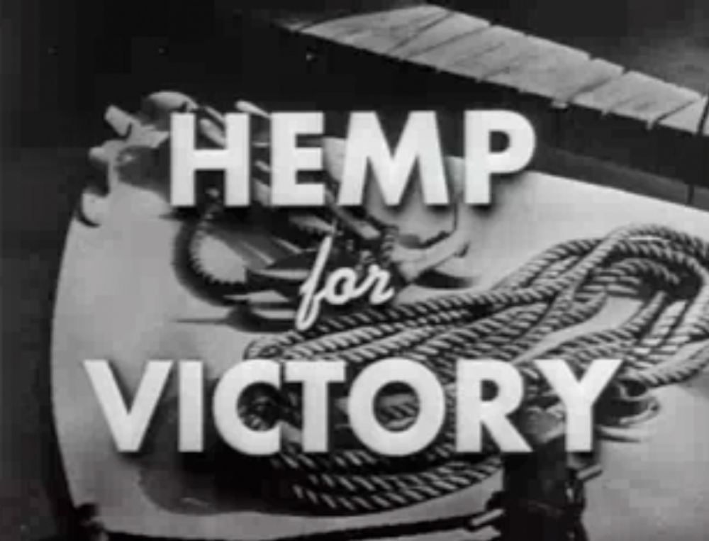 A U.S.-made film pushed hemp growth after Japanese troops cut off access to Asian fiber supplies during World War II.