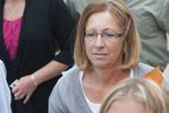 Carole Swan, outside court in September 2013.