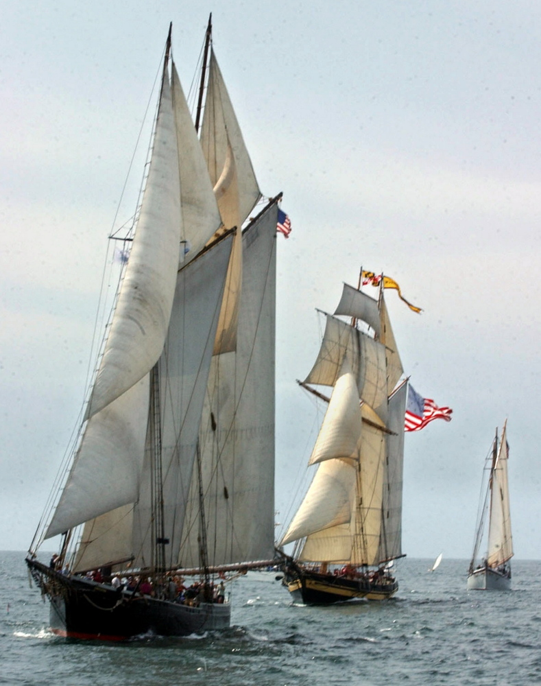 The Boothbay Harbor Shipyard will increase its workforce during the three-year restoration of the Ernestina, left. The 1894 Grand Banks schooner is the official vessel of the Commonwealth of Massachusetts.