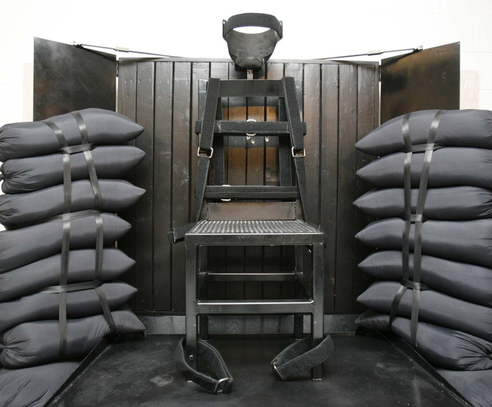 The firing squad execution chamber at the Utah State Prison in Draper, Utah, hasn't been used since 2010, but a legislative panel endorsed its resumption by a 9-2 vote Wednesday.