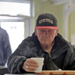 Whatever Mike Gavitt's future holds, the former Marine and brother of a late basketball legend says he'll face it without regret and he's grateful for support services like the Preble Street soup kitchen where he may get his breakfast.