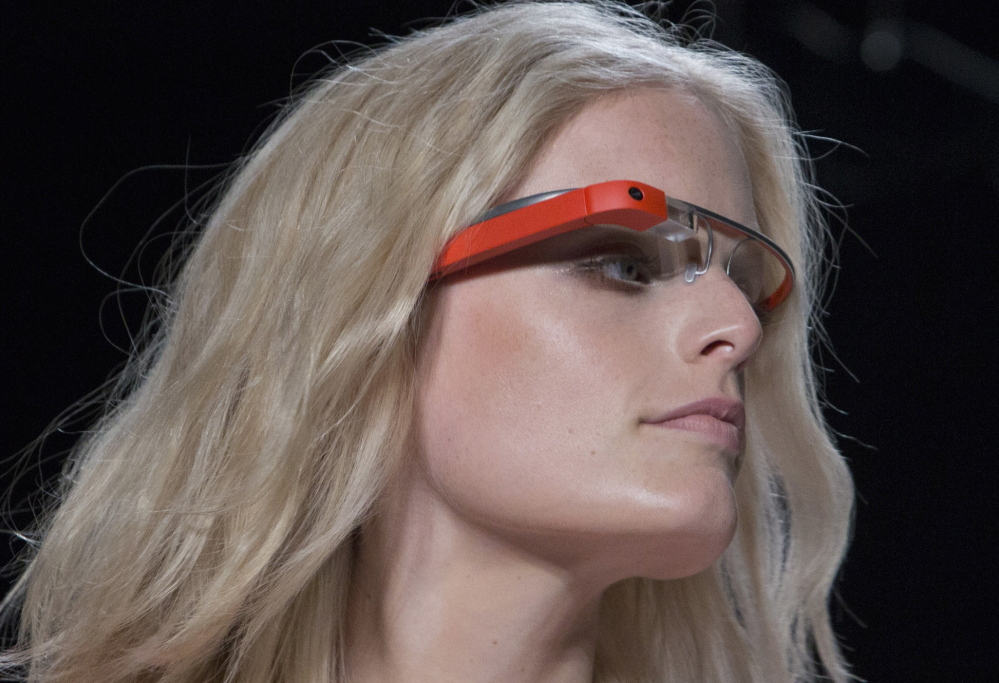 A model wears Glass during New York Fashion Week in 2012.