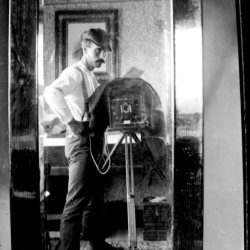 """Isaac, Self-Portrait in Mirror"""
