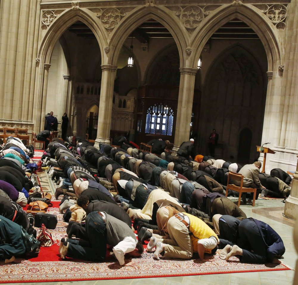 Five Muslim groups hold the first celebration of Muslim Friday Prayers, Jumaa, in the The Washington National Cathedral. The writers urge Mainers to choose acceptance over fear.