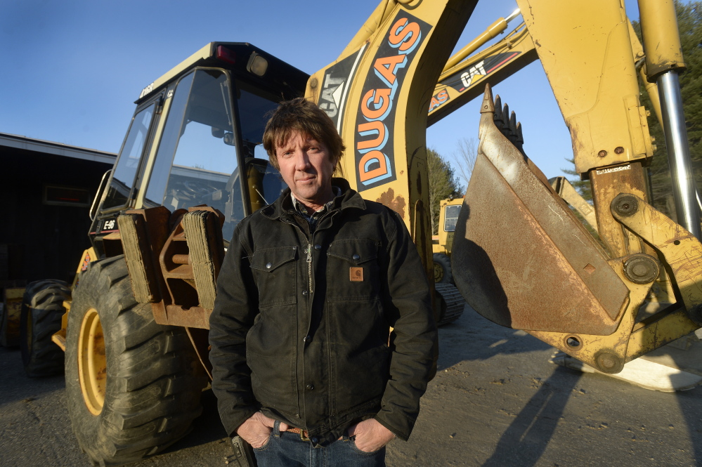 """Scott Dugas says he works hard to keep employees but can't find younger workers for his Yarmouth-based excavation business. """"All the kids want to go get jobs where they can press buttons on a computer,"""" Dugas said."""