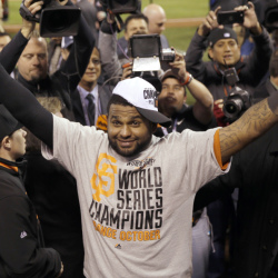 Pablo Sandoval is reaching for a big payday after seven seasons with the San Francisco Giants that have included three World Series titles, including the most recent, won on Oct. 29 in Kansas City. Boston is said to be high in the running for the free agent.