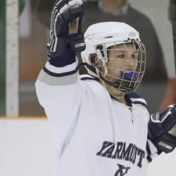 After growing up playing with and against boys, Michelle Robichaud of Yarmouth finally joined a girls' team when she reached high school, and she's found a different game. She's become a dominant force.