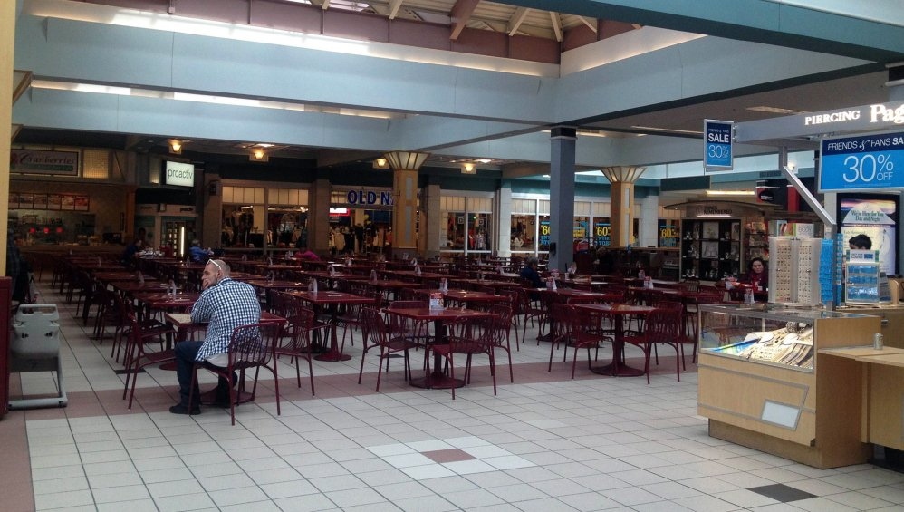 The Steeplegate Mall in Concord, N.H., had a nearly empty food court last Friday. The operator, a real estate investment trust, has abandoned the mall, which is now in receivership.