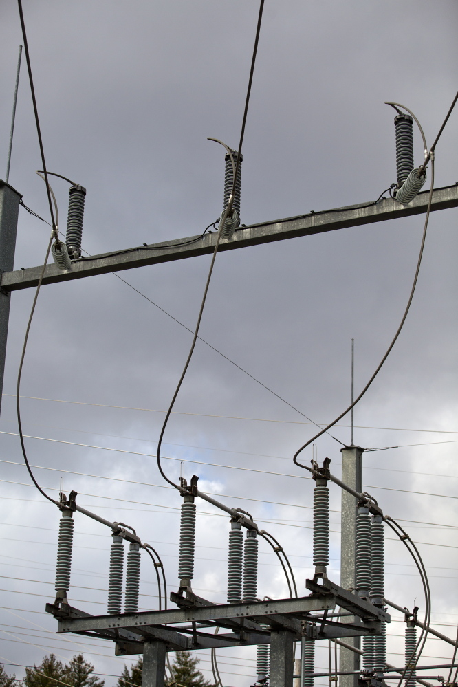 "Transformers outside the Maine plant deliver power to the grid. ""The biggest problem with Rumford,"" said Tom Cassidy, a power trader for Halifax, Nova Scotia-based Emera, ""is when there's high gas demand elsewhere on the system, Rumford's gas tends to get constrained and expensive."""