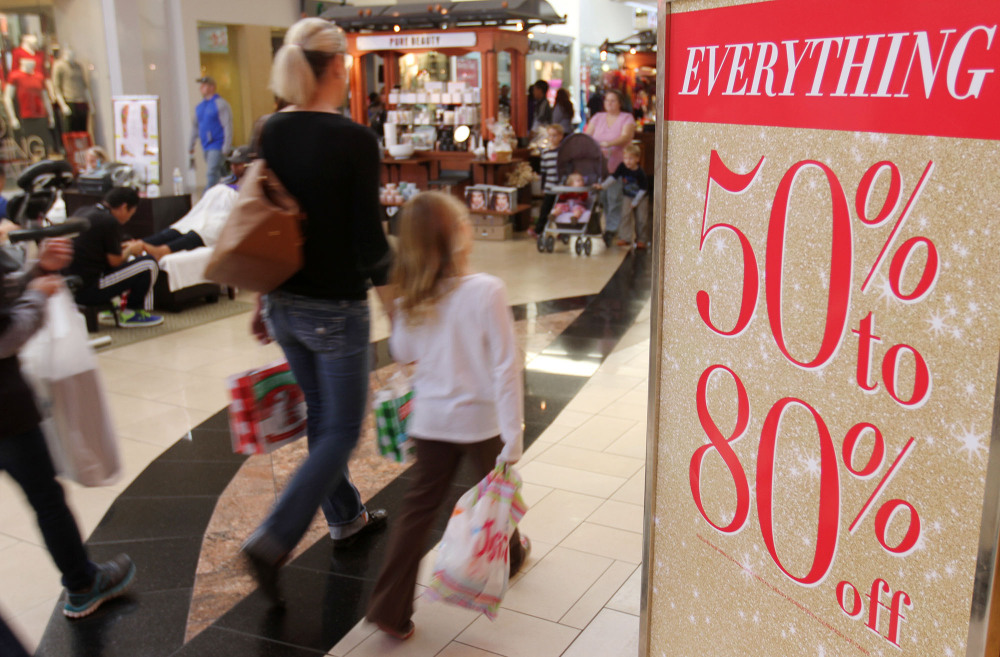 Shoppers look for Black Friday deals at Edgewater Mall in Biloxi, Miss., on Friday Nov.