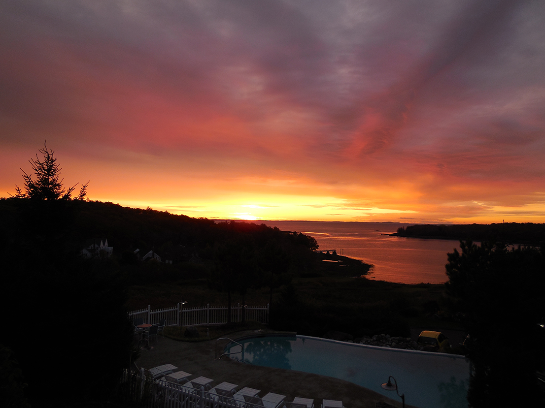 Another day in the paradise of midcoast Maine is dawning, and Kennebunk's Dolores Choquette was glad she rose early in Rockport to capture this magnificent sunrise over Penobscot Bay.