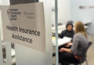 Signing up for ACA health coverage.