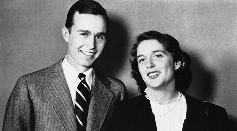 George Bush Is Shown With Wife Barbara In 1945 The Associated Press