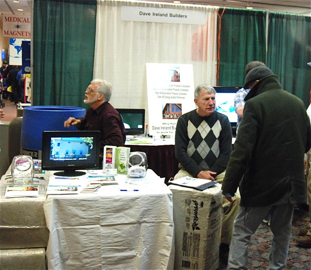 Dave Ireland LLC's booth at the Bangor Home Show in a photo that is posted on the company's website.