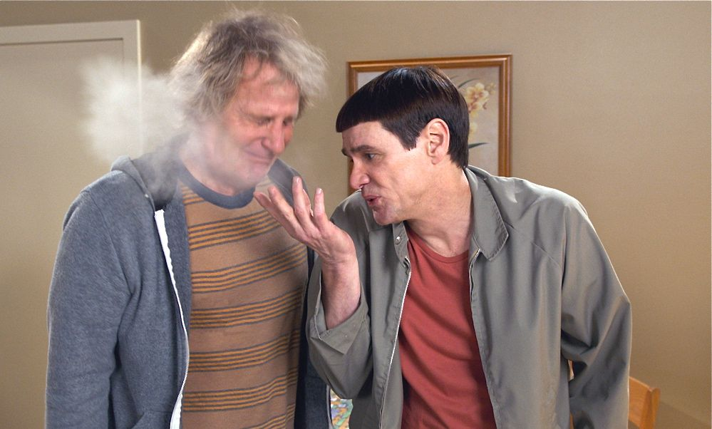 "Jeff Daniels, left, and Jim Carrey say ""Dumb and Dumber To"" was more fun to make than the original. The Associated Press"