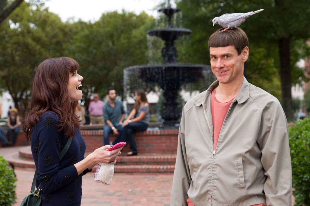 """Rachel Melvin and Jim Carrey, in a scene from """"Dumb and Dumber To."""" The Associated Press / Universal Pictures"""
