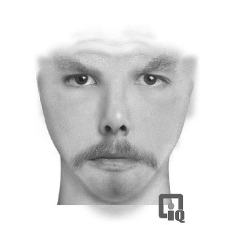 A digital composite police sketch shows the man sought by police in connection with an attempted robbery at a union hall in Skowhegan on Tuesday night.