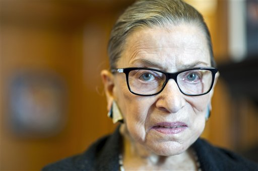 "Supreme Court Justice Ruth Bader Ginsburg's comments about presidential candidate Donald Trump included calling him a ""faker"" who ""really has an ego."""