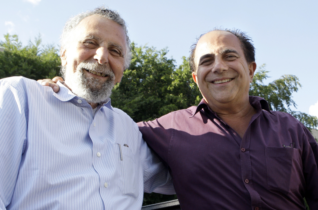 Brothers Tom Magliozzi, left, and Ray Magliozzi, hosts of National Public Radio's