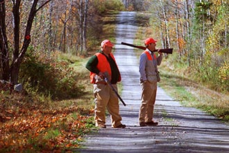 As hunting has grown safer, Maine laws have been relaxed. Now hunters can wear blaze orange in a camouflage patternand they now are allowed to hunt 30 minutes after sunset during the fading light.