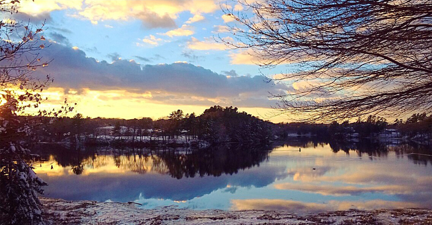 Molly Wiggin's photo of the banks of the Saco River at sunset on Thanksgiving Day should put everyone in a reflective mood as the once vivid colors of late autumn fade into an early winter that provides its own stark beauty.