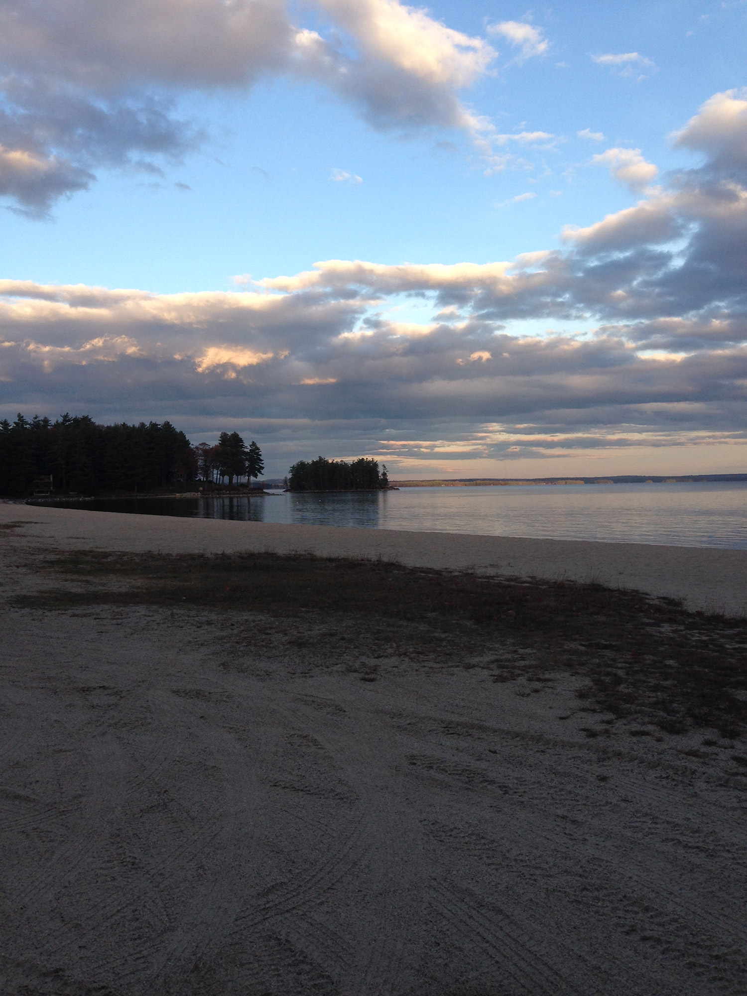 It may seem like an eternity before Sebago Lake will again brim with summer activities, but Maria J. Walker can still appreciate its stark, offseason beauty.